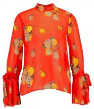 Warehouse VICTORIA FLORAL TIE BACK Camicetta orange