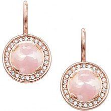 Thomas Sabo–Orecchini pendenti da donna Glam e quarzo Soul orecchino argento 925placcato oro rosa, zirconi taglio rotondo–H1809–417–9