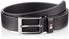 Tommy Hilfiger Layton Belt 3.5cm, Cintura Uomo, Nero (Black 002), 110