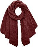 PIECES Pcpyron Long Scarf Noos, Sciarpa Donna, Rosso (Port Roeale), Taglia unica