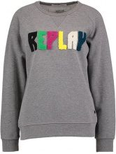 Replay Felpa melange grey