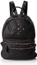 Swanky Swans Gigi Studded Faux Leather Backpack - Borse a zainetto Donna, Black, 18x31x35 cm (W x H L)