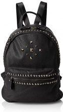 Swanky Swans Gigi Studded Faux Leather Backpack - Borse a zainetto Donna, Black, 18x31x35 cm (W x H L)