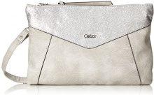 Gabor Leila - Pochette da giorno Donna, Silber (Silver), 1.5x17x24.5 cm (B x H T)