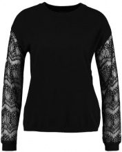 Cortefiel CREW NECK JUMPER WITH SLEEVES Maglione black