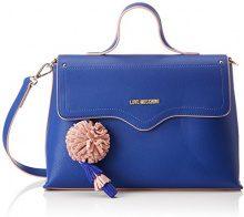 Love Moschino Borsa Small Grain Pu Blu - Donna, (Blue), 10x21x32 cm (B x H T)