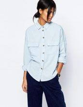 ASOS - Camicia casual con bordi grezzi