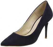 ufficio da donna graduate W closed-toe tacchi, Blu (Blue (Navy Suede)), 41