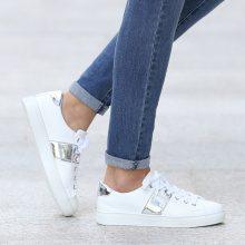 Sneakers con dettagli metallizzati