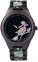 Orologio in legno con pappagallo