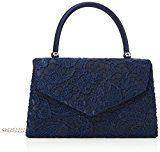 Swanky Swans Jena - Pochette da giorno Donna, Blue (Navy Blue), 6.5x16x24 cm (W x H L)