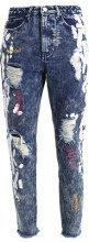 Missguided B&&B VINTAGE WASH DISTRESSED WITH COLOURED STITCH Jeans baggy vintage wash