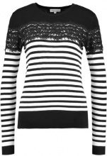 Warehouse STRIPE JUMPER Maglione black/white
