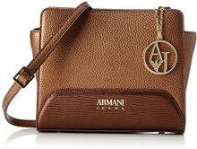 Armani Jeans Borsa Tracolla - Borse Baguette Donna, Braun (Bronzo), 19x8x16 cm (B x H T)