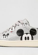 MOA Master of Arts DISNEY Sneakers basse silver glitter