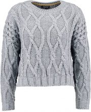 Topshop CROP CABLE Maglione grey marl
