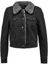 Only Petite ONLCHRIS SHEARLING Giacca di jeans black denim