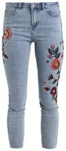 New Look EMBROIDERED SKINNY BRAZIL Jeans Skinny Fit mid blue