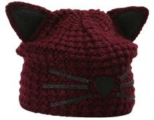 KARL LAGERFELD CHOUPPETTE LUXURY BEANIE Berretto fig