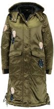Lost Ink EMBROIDERED SWING  Cappotto invernale khaki