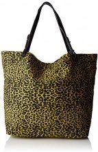 Petite Mendigote - Clea Leopard, Borse a tracolla Donna, Giallo (Lime)