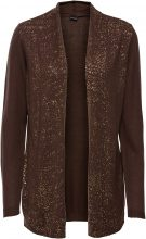 Cardigan in fantasia glitterata (Marrone) - BODYFLIRT
