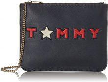 Tommy Hilfiger Honey Flat, Borse a tracolla Donna, Nero (Tommy Star), 1x20x27 cm (W x H x L)