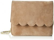 PIECES Pcsunshine Suede Cross Body - Borse a spalla Donna, Braun (Natural), 9x15x18 cm (L x H D)