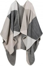 Poncho a quadri (Grigio) - bpc bonprix collection