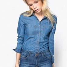Camicia in denim, taschini
