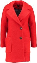 Topshop SEAMED BOUCLE COAT Cappotto classico red