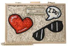 Love Moschino GLITTER PATCHES BOXBAG Pochette oro