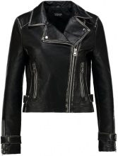 Topshop WASHED WOLF  Giacca in similpelle black