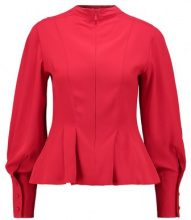 Topshop TUCK WAIST Camicetta red