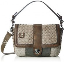UnbekanntHaarlem ELENOR Flap bag M - Borse a Tracolla Donna , Beige (Beige (Taupe)), 28x19x10 cm (B x H x T)