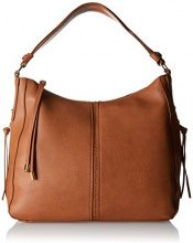 PIECES Pcjustine Bag - Borse a spalla Donna, Braun (Cognac), 13x32x35 cm (B x H T)