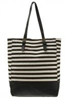 Shopping bag - black/white