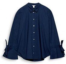 ESPRIT 107ee1f030, Camicia Donna, Blu (Navy 400), 36