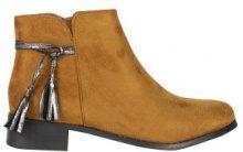 Ankle boots con nappina metallizzata
