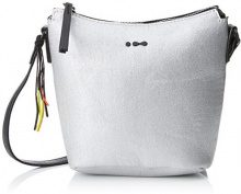 Skunkfunk Lira, Borsa a spalla donna 10x18x24 cm (W x H x L) argento Size: 10x18x24 cm (W x H x L)