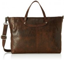 Sansibar Zip Bag - Borse a secchiello Donna, Braun (Dark Brown), 6x25x33 cm (B x H T)