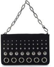 Borsa a spalla Alexander Wang  Pochette  Attica Chain in pelle nera con borchie e anelli