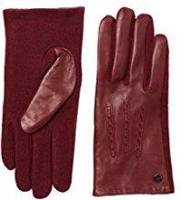 ESPRIT Accessoires 107ea1r003, Guanti Donna, Rosso (Dark Red 610), 8