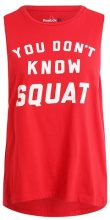 Reebok DONT KNOW SQUAT Top red
