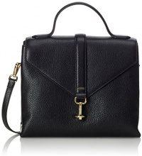 Ecco Isan Handbag, Borse a Tracolla Donna, Nero (Black), 12 x 22 x 28 cm (L x H x D)