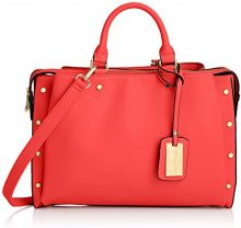 SwankySwans Michelle Pu Leather Work, Rosso Rosso (Red)