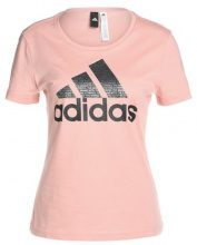 adidas Performance FOIL TEXT BOS Tshirt con stampa rose