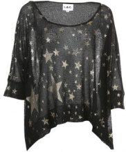 Pullover a maglia con stampa allover a stelle