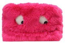 Topshop MARLEY FUR FACE BAG Trousse pink