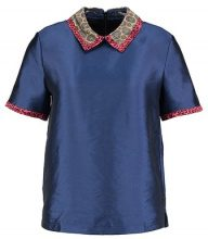 Scotch & Soda SHORT SLEEVE WITH CONTRAST COLLAR Camicetta combo dark blue